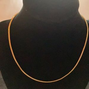 """Gold Tone Omega Chain Necklace for Pendants 16"""""""